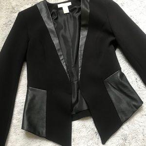 H&M Cropped Leather Detail Blazer